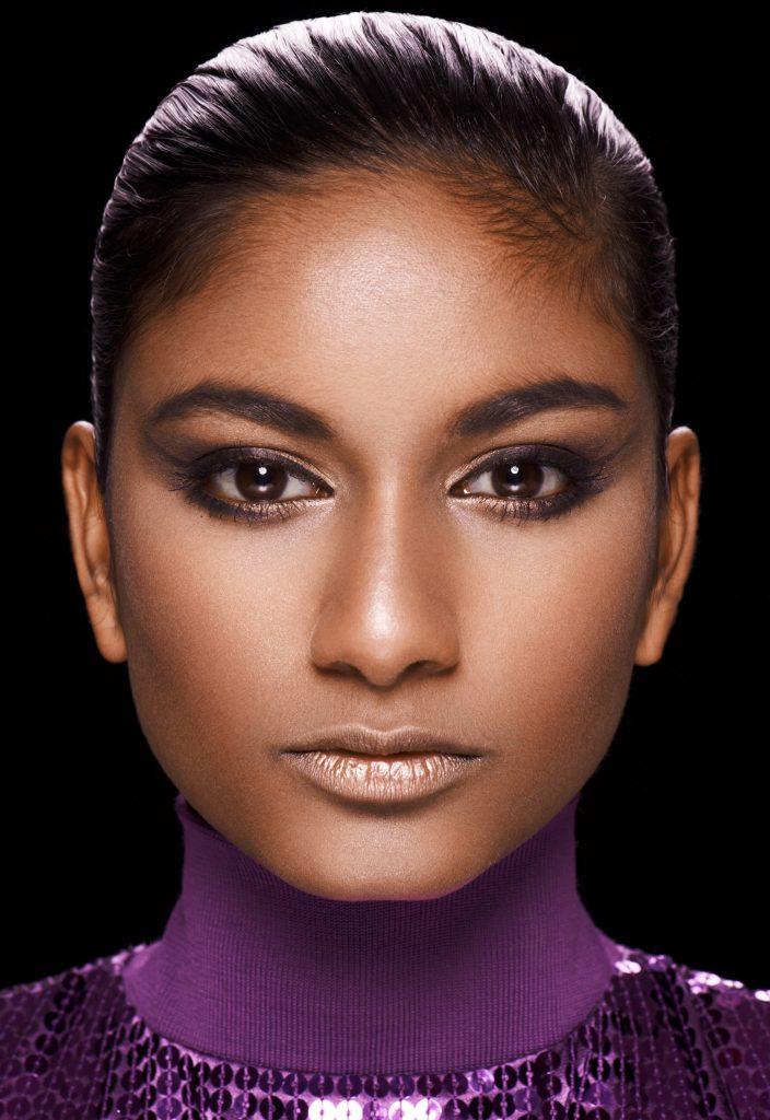 Cecilie G. Bjerre Thomsen fotograf christian grüner indian violet lille purple make-up