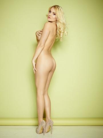 Natascha Hansen fotograf christian grüner nude naked nøgen heels blonde topless