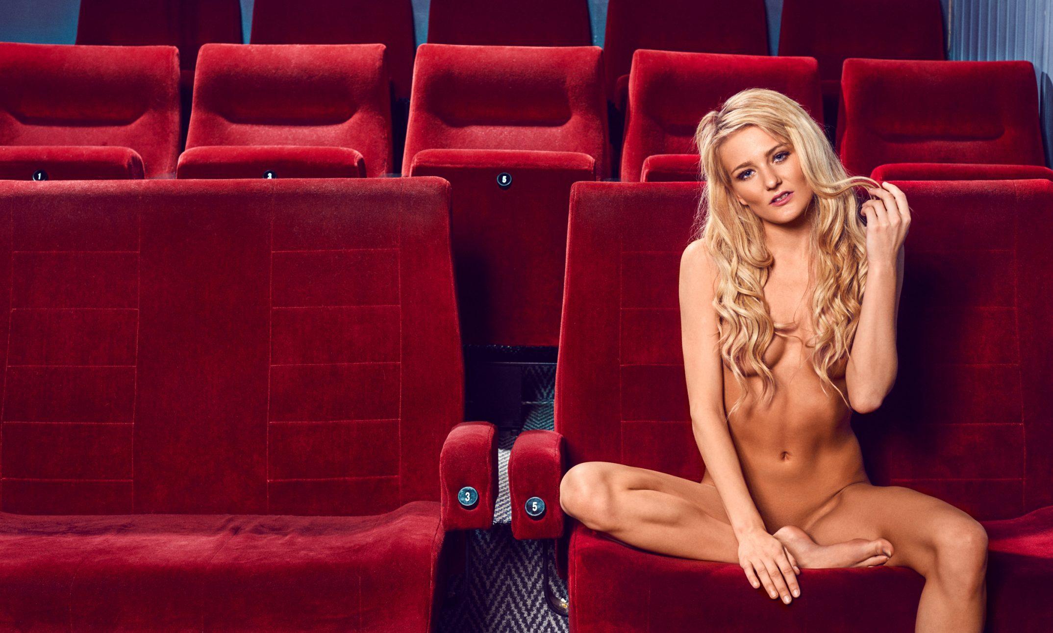 Camilla Maria Christensen fotograf christian grüner nøgen nude naked cinema biograf blonde