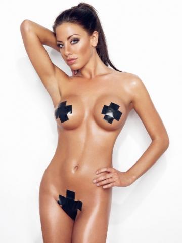 Sarah Louise Christiansen fotograf christian grüner nude naked nøgen black tape topless brunette