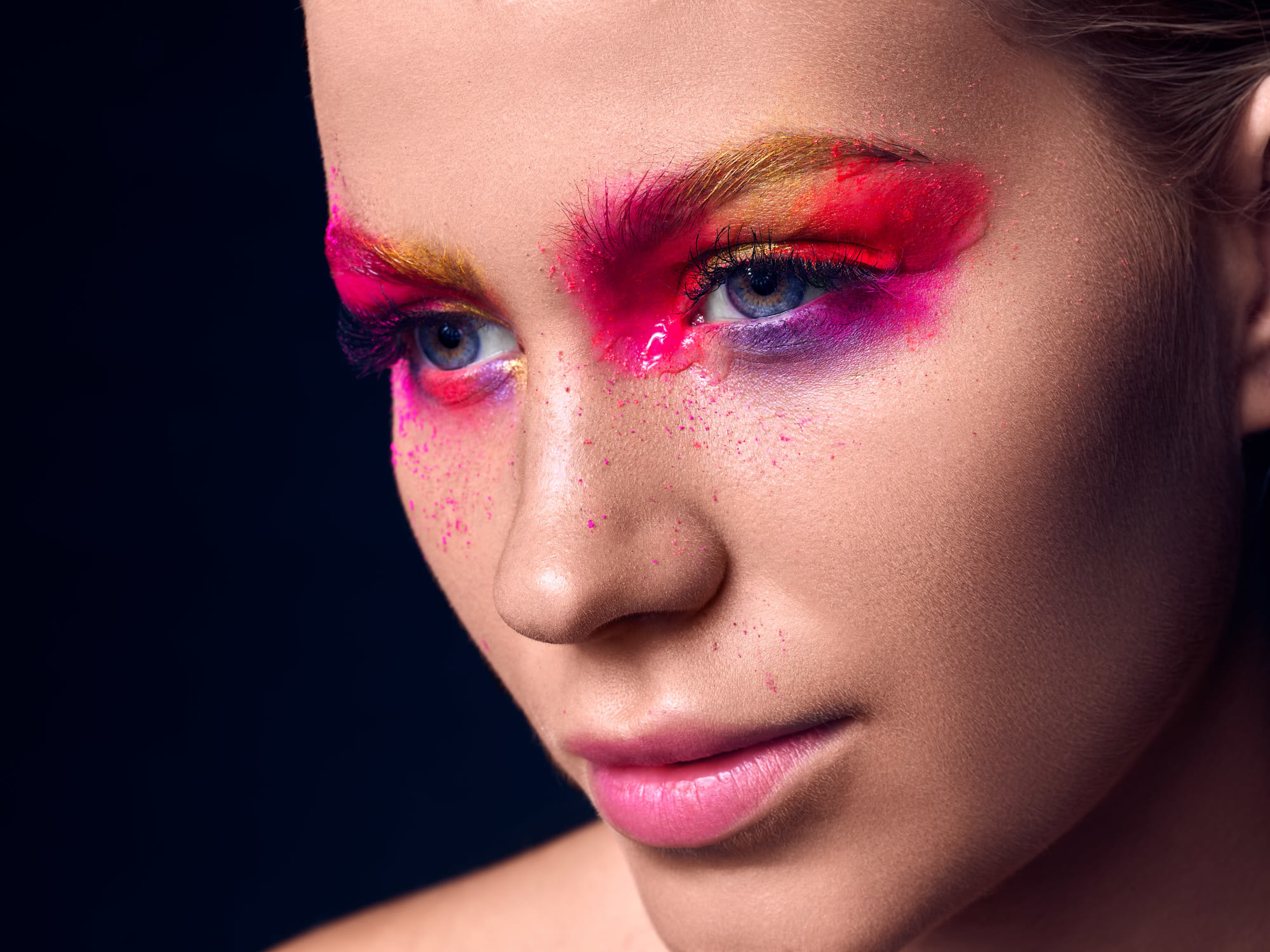 Natasja Voldstedlund Tanja Balsgaard make-up beauty portrait close-up model